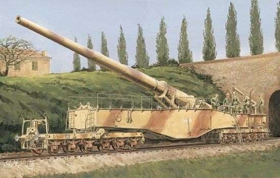 German Railway Gun 28cm K5(E) Leopold model_do_sklejania_dragon_6200_1_35_image_1-image_Dragon_6200_1