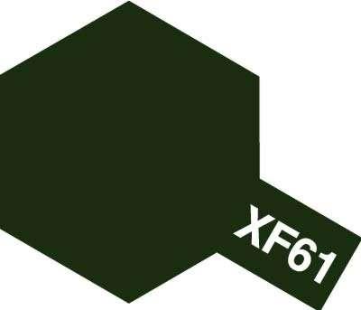 Modelarska matowa farba akrylowa w kolorze XF-61 Dark Green o pojemności 23ml, Tamiya 81361.-image_Tamiya_81361_1