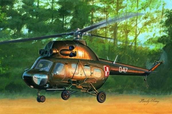 Plastikowy model helikoptera Mi-2US Hoplite z polskimi oznaczeniami - sklep modeledo - image_1-image_Hobby Boss_87242_1
