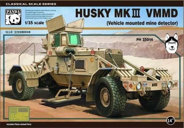 Amerykański pojazd do wykrywania min Husky Mk.III, plastikowy model do sklejania Panda 35014 w skali 1:35-image_Panda Model Hobby_35014_1