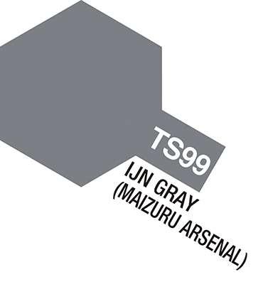 Farba modelarska - spray TS-99 IJN Grey (Maizuru Arsenal) - Tamiya nr 85099-image_Tamiya_85099_1