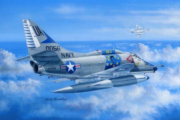 Amerykański pokładowy samolot szturmowy Douglas A-4E Skyhawk, plastikowy model do sklejania Hobby Boss 81764 w skali 1:48-image_Hobby Boss_81764_1