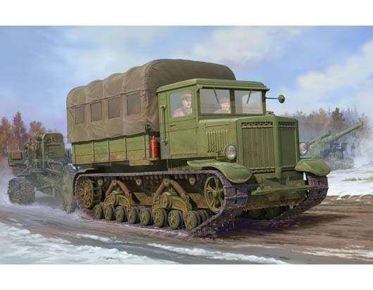 Radziecki gąsienicowy ciągnik artyleryjski Woroszyłowiec , plastikowy model do sklejania Trumpeter 01573 w skali 1:35-image_Trumpeter_01573_1