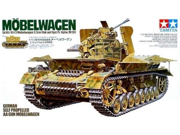 Niemieckie samobieżne działo przeciwlotnicze Sd.Kfz.161/3 Mobelwagen, plstikowy model do sklejania Tamiya 35237 w skali 1:35.-image_Tamiya_35237_1