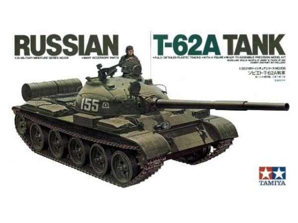 Rosyjski czołg T-62A, plastikowy model do sklejania Tamiya 35108 w skali 1:35-image_Tamiya_35108_1