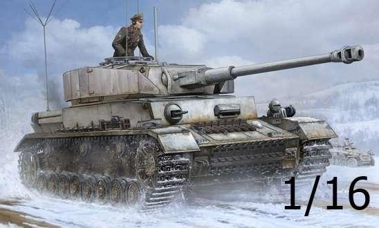 Niemiecki czołg średni Pz.Kpfw.IV Ausf.J z dodatkową radiostacją, plastikowy model do sklejania Trumpeter 00922 w skali 1:16.-image_Trumpeter_00922_1