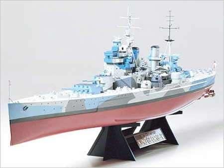 Brytyjski pancernik King George V, plastikowy model do sklejania Tamiya 78010 w skali 1:350.-image_Tamiya_78010_1