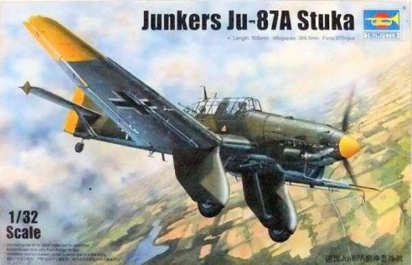 German Luftwaffe Junkers Ju 87A Stuka bombowiec nurkujący - model do sklejania Trumpeter_03213)image_1-image_Trumpeter_03213_1