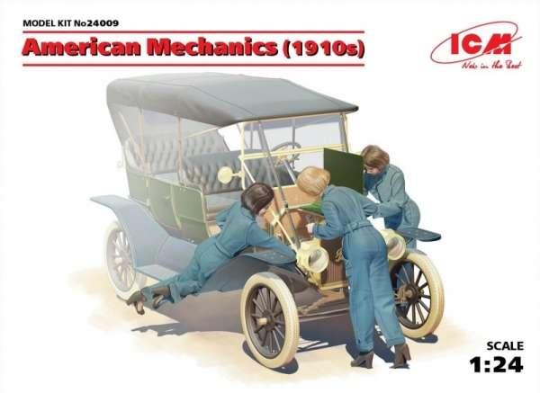 Amerykańskie kobiety - mechanicy podczas naprawy, plastikowe figurki do sklejania ICM 24009 w skali 1:24-image_ICM_24009_1