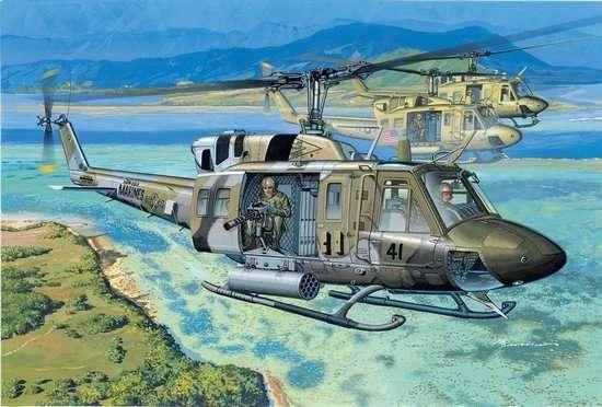 Model amerykańskiego wielozadaniowego helikoptera UH-1N