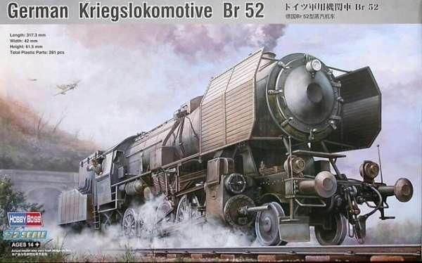 Niemiecka opancerzona lokomotywa parowa Kriegslokomotive BR.52, plastikowy model do sklejania Hobby Boss 82901 w skali 1:72-image_Hobby Boss_82901_1