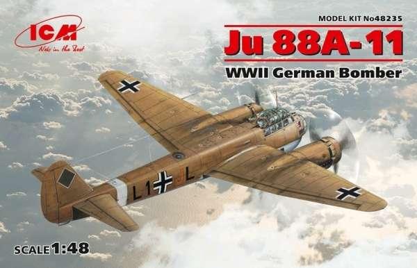 Niemiecki bombowiec Junkers Ju 88A-11, plastikowy model do sklejania ICM 48235 w skali 1:48-image_ICM_48235_1