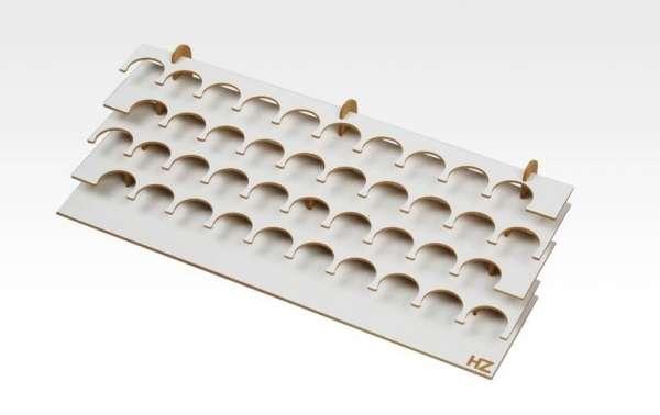 Modelarski duży stojak na farby do średnicy 36mm x 40szt, Hobby Zone S1b-image_Hobby Zone_S1b_1