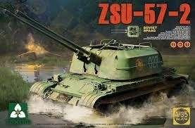 Radzieckie samobieżne działo przeciwlotnicze ZSU-57-2, plastikowy model do sklejania Takom 2058 w skali 1:35-image_Takom_2058_1