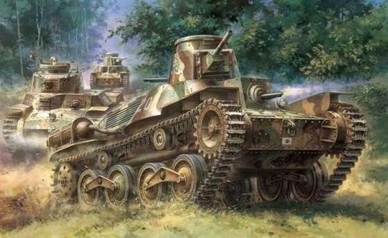 Japoński czołg lekki IJA Typ 95, plastikowy model do sklejania Dragon 6767 w skali 1:35.-image_Dragon_6767_1