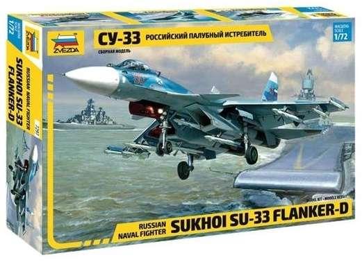 Radziecki myśliwiec Sukhoi SU 33, plastikowy model do sklejania Zvezda 7297 w skali 1:72.-image_Zvezda_7297_1