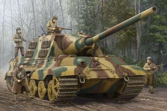 Niemiecki ciężki niszczyciel czołgów Sd.Kfz.186 Jagdtiger, plastikowy model do sklejania Trumpeter 00923 w skali 1:16-image_Trumpeter_00923_1