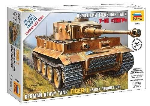 Niemiecki czołg ciężki Tiger I, plastikowy model do składania (ew. sklejania) Zvezda 5002 w skali 1:72.-image_Zvezda_5002_1