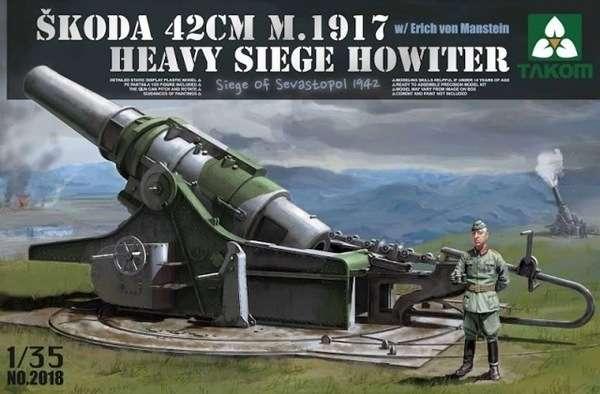 Plastikowy model do sklejania ciężkie haubicy Skoda M1917 42cm w skali 1:35. Model firmy Takom 2018.-image_Takom_2018_1