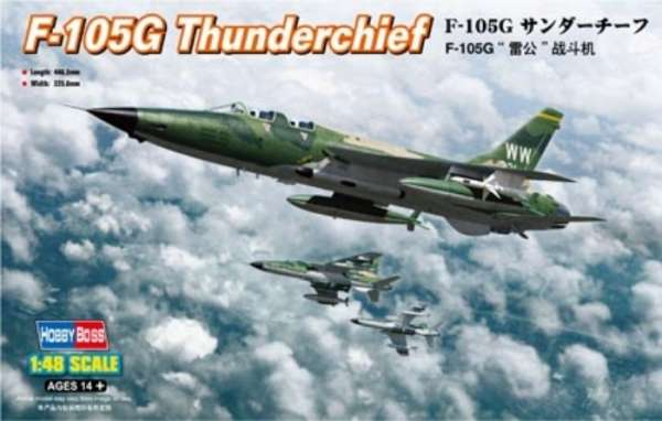 Plastikowy model Hobby Boss 80333 F-105G Thunderchief do sklejania - image_1-image_Hobby Boss_80333_1