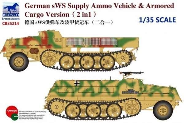 Niemiecki pojazd półgąsienicowy sWS, plastikowy model do sklejania Bronco CB 35214 w skali 1:35-image_Bronco Models_CB35214_1
