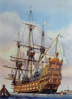 Francuski 104-działowy okręt liniowy Soleil Royal, plastikowy model do sklejania Heller 80899 w skali 1:100-image_Heller_80899_1