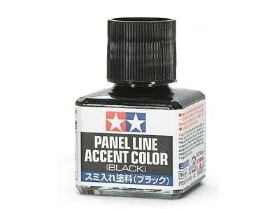 Farba emaliowa w kolorze czarnym idealna do podkreślania linii podziałowych, Tamiya 87131-image_Tamiya_87131_1