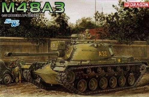 Amerykański czołg średni M48A3, plastikowy model do sklejania Dragon 3546 w skali 1:35-image_Dragon_3546_1