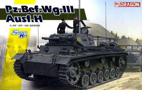 Plastikowy model do sklejania niemieckiego czołgu PZIII w wersji H, skala 1:35.-image_Dragon_6844_1
