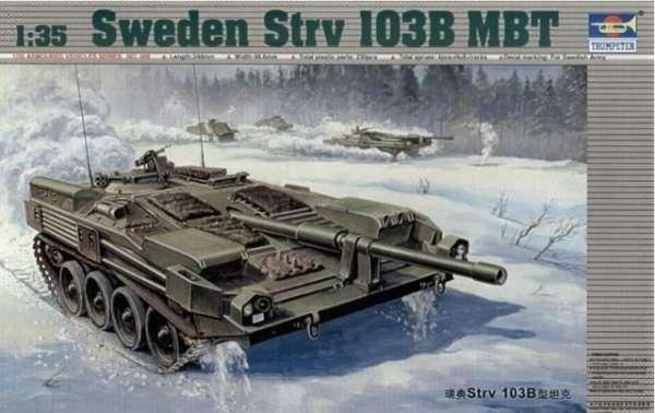 Model do sklejania szwedzkiego czołgu STRV 103B, model Trumpeter 00309 w skali 1/35.-image_Trumpeter_00309_1