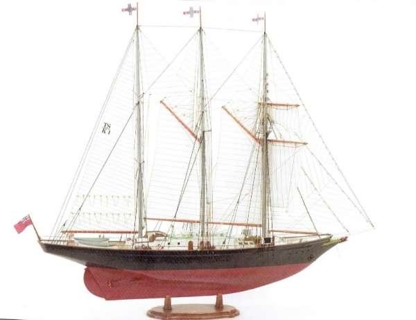 Brytyjski trzy masztowy szkuner Sir Winston Churchill , drewniany model do sklejania Billing Boats BB706 w skali 1:75 - image_1-image_Billing Boats_BB706_1