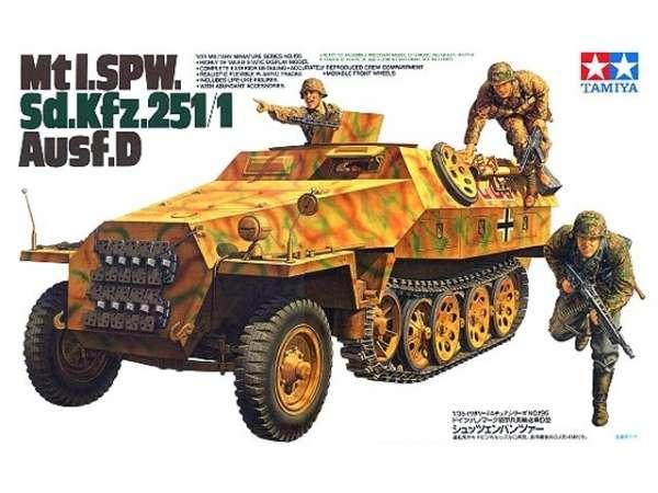 Niemiecki transporter opancerzony SdKfz 251/1 wersja D, plastikowy model do sklejania Tamiya 35195 w skali 1:35-image_Tamiya_35195_1