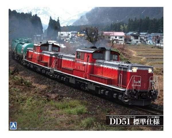 Lokomotywa DD51 typ standardowy, plastikowy model do sklejania Aoshima 00999 w skali 1:45 - image_1-image_Aoshima_00999_1