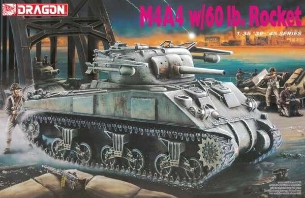 Amerykański średni czołg Sherman M4A4 z rakietami, plastikowy model do sklejania Dragon 6041 w skali 1:35.-image_Dragon_6041_1
