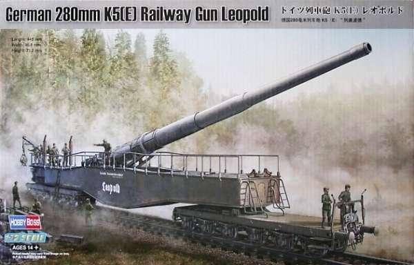 Niemieckie kolejowe działo Krupp K5 (E) Leopold, plastikowy model do sklejania Hobby Boss 82903 w skali 1:72-image_Hobby Boss_82903_1