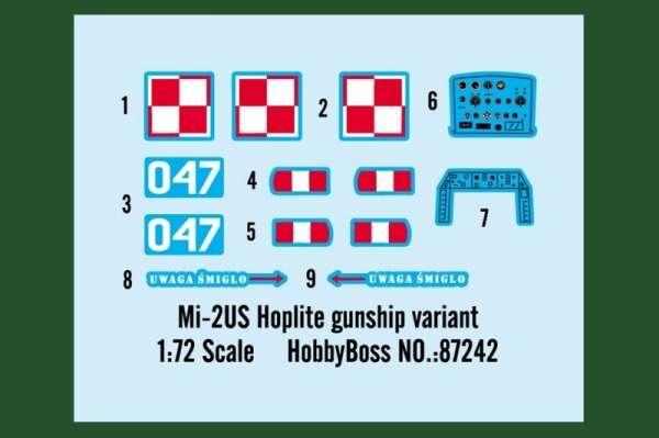 Plastikowy model helikoptera Mi-2US Hoplite z polskimi oznaczeniami - sklep modeledo - image_3-image_Hobby Boss_87242_3