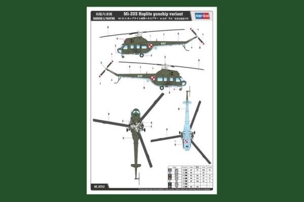 Plastikowy model helikoptera Mi-2US Hoplite z polskimi oznaczeniami - sklep modeledo - image_7-image_Hobby Boss_87242_3