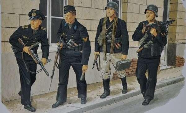 Figurki do sklejania niemieckiej piechoty morskiej w skali 1:35. Model Dragon 6087.-image_Dragon_6087_1