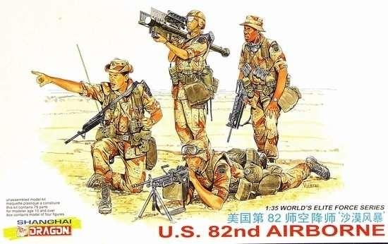 Amerykańscy żołnierze 82 Dywizji Powietrznodesantowej, plastikowe figurki do sklejania Dragon 3006 w skali 1:35-image_Dragon_3006_1