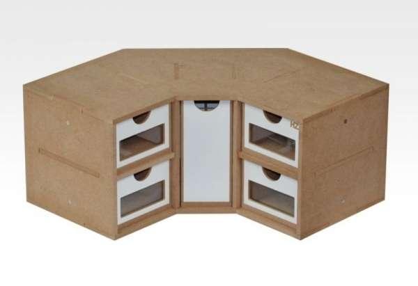 Hobby Zone OM03 - modułowy organizer narożny z szufladkami - image modeledo.pl -a-image_Hobby Zone_OM03_1