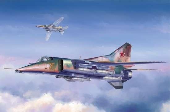 Radziecki myśliwiec bombardujący Mig-27 Flogger D , plastikowy model do sklejania Trumpeter 05802 w skali 1:48-image_Trumpeter_05802_1