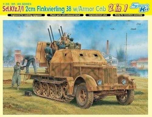 Niemieckie działko przeciwlotnicze na podwoziu pojazdu Sd.Kfz.7/1, model do sklejania Dragon 6533 w skali 1:35.-image_Dragon_6533_1