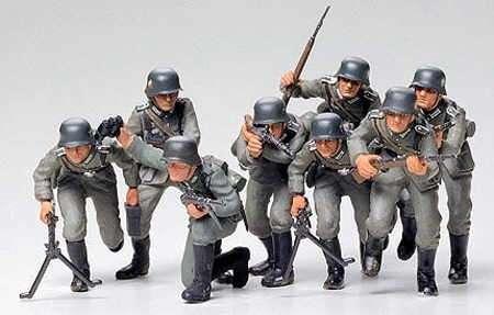 Niemiecka piechota, plastikowe figurki do sklejania Tamiya 35030 w skali 1:35-image_Tamiya_35030_1