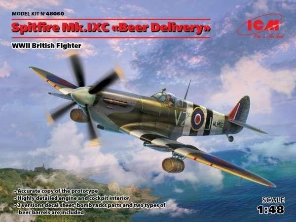 Brytyjski myśliwiec Spitfire Mk. IXC, plastikowy model do sklejania ICM 48060 w skali 1:48-image_ICM_48060_1