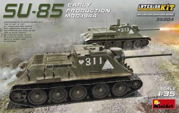 Radzieckie średnie działo samobieżne SU-85, plastikowy model do sklejania MiniArt 35204 w skali 1:35-image_MiniArt_35204_1