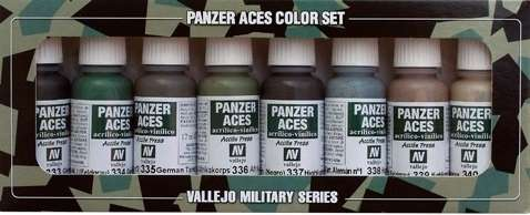 Zestaw farb modelarskich Model Color - Panzer Aces nr 5 (mundury) - 8 szt., Vallejo 70128.-image_Vallejo_70128_1