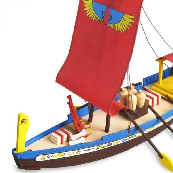 zestaw-modelarski-dla-dzieci-egipska-lodz-cleopatra-do-sklejania-sklep-modeledo-image_Artesania Latina drewniane modele statków_30507_5