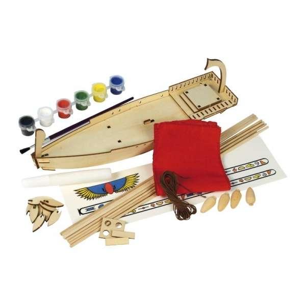 zestaw-modelarski-dla-dzieci-egipska-lodz-cleopatra-do-sklejania-sklep-modeledo-image_Artesania Latina drewniane modele statków_30507_3
