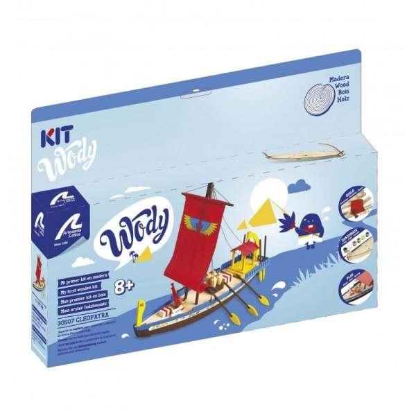 zestaw-modelarski-dla-dzieci-egipska-lodz-cleopatra-do-sklejania-sklep-modeledo-image_Artesania Latina drewniane modele statków_30507_6