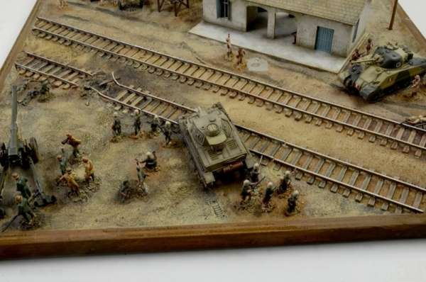 Battle Set El ALamein The Railway Station Italeri 6181 zestaw modelarski do sklejania image_1_ita6181_m-image_Italeri_6181_3